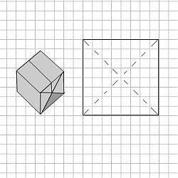 origami basteln aus nur einem blatt papier ein würfel aus einem a4 ...
