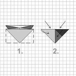 Bekannt Würfel aus Papier falten. Origami QI16