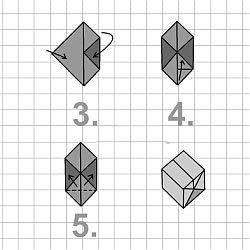 w rfel aus papier falten origami. Black Bedroom Furniture Sets. Home Design Ideas
