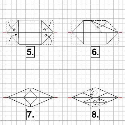 vietnamesisches boot aus papier falten origami. Black Bedroom Furniture Sets. Home Design Ideas