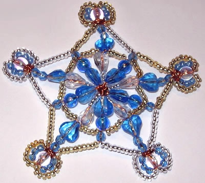 Basteln mit Perlen - Schneeflocke